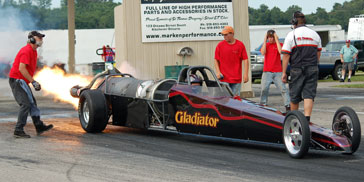 Gladiator Jet Racing dragster (Dan Pirisi) - St Thomas Dragway Ontario Canada August 5 2006 - photo by Wayne Beaven